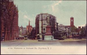 Westminster and Weybossett Streets Postcard