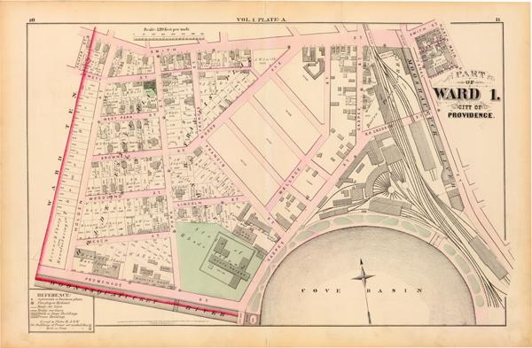 1875 GM Hopkins Map - Providence, RI Ward 1, Vol. 1, Plate A ...